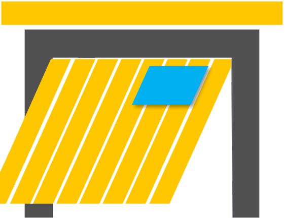 Schwingtor mit eingebautem Fenster