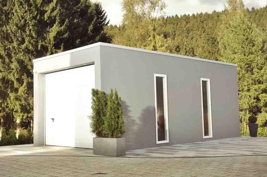 Fertiggarage aus Beton der Firma Hundhausen