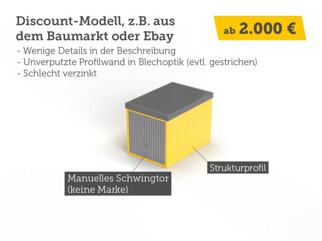 Discount Stahlgarage zum günstigen Preis